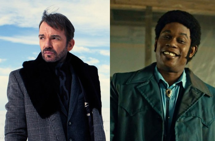 The villains of Fargo, Lorne Malvo (Billy Bob Thornton) and Mike Milligan (Bokeem Woodbine)