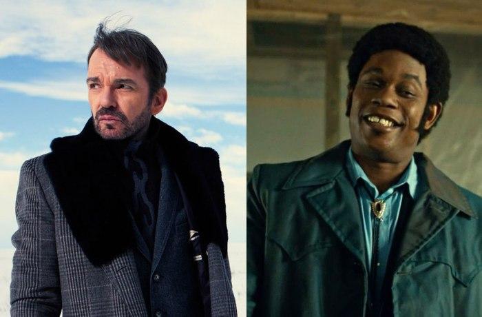 The villains of Fargo, Lorne Malvo (Billy Bob Thornton) and Mike Milligan (Bokeem Woodbine)